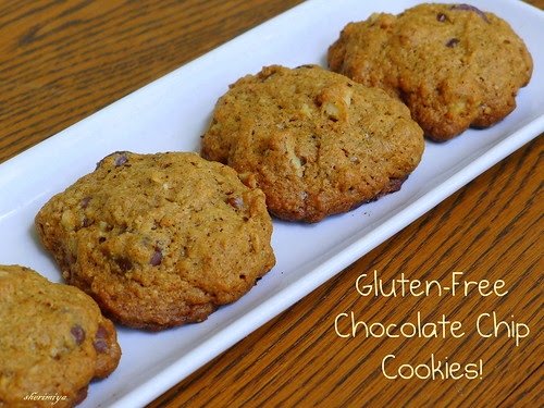 Gluten-Free Chocolate Chip Cookies, homemade by sherimiya ♥