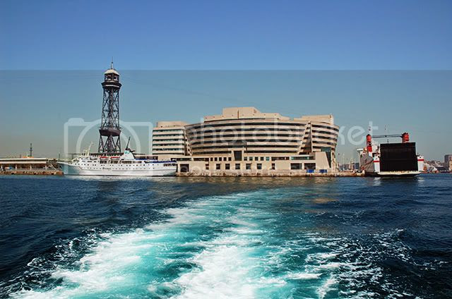 Barcelona World Trade Center View From The Sea [enlarge]