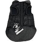 Beverly Hills Polo Club Black Nylon Fleece Lined Dog Coat Jacket
