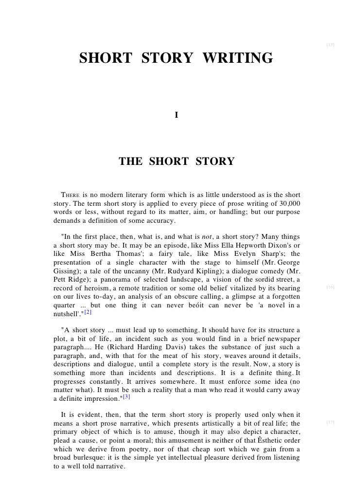 how to write a critical essay on a short story