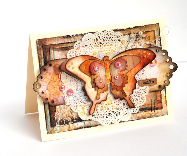 prima butterfly card