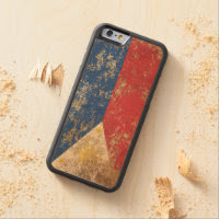 Rough Aged Vintage Filipino Flag Carved® Maple iPhone 6 Bumper