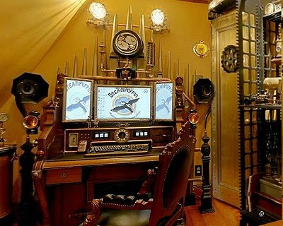 check out this entire home decorated in Steampunk - Maries Manor