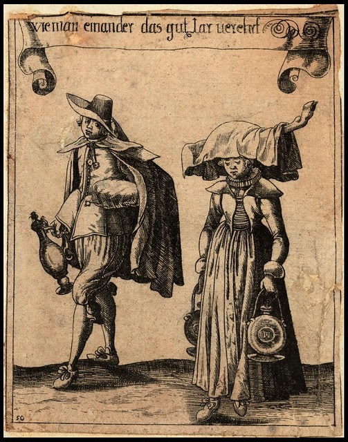 engraving 1634 - Basel costumes