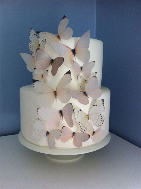 Wedding CAKE TOPPER   Edible Butterflies in Ivory, Off