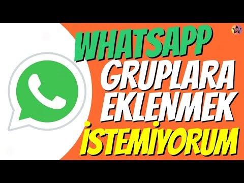 WhatsApp Gruba Eklenmeyi Kapatma Programsız Kesin Yöntem 2020