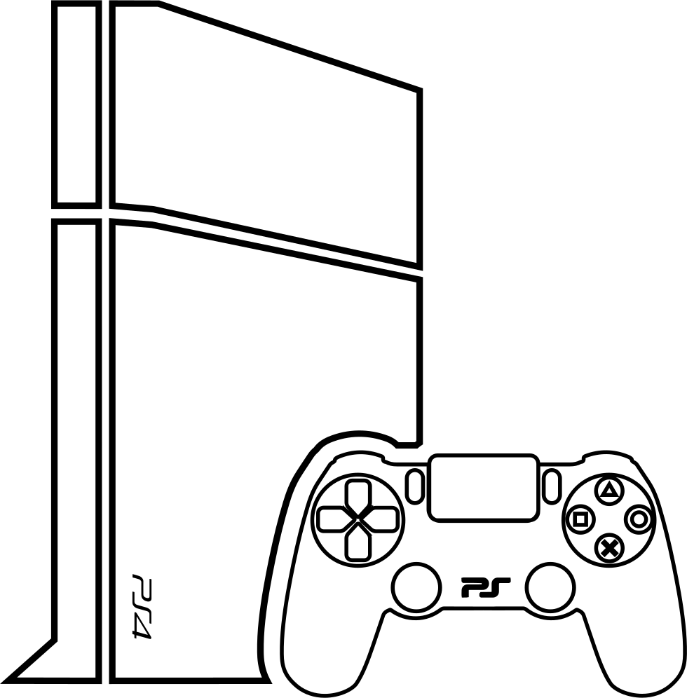 Video Game Console With Gamepad Svg Png Icon Free Download ...