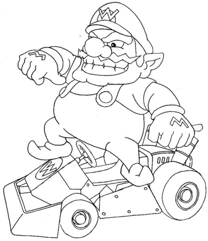 Mario Kart Coloring Pages At Getdrawingscom Free For Personal Use