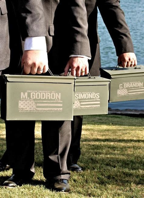 Best Man Gift   Engraved Ammo Box Personalized With Name