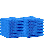 """Puffy Cotton Premium 13"""" by 13"""" Hotel and Bath - Bathing Products to Buy Aqua Blue"""