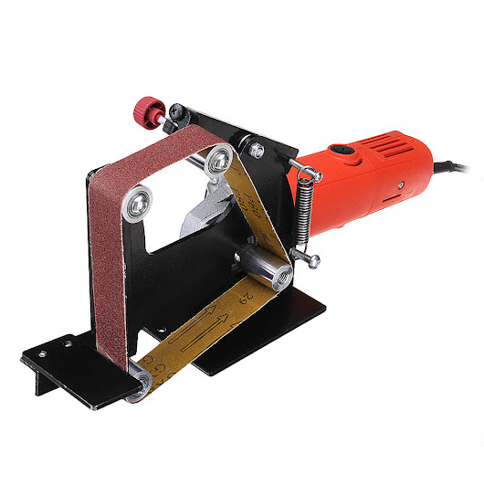 Drillpro Angle Grinder Belt Sander Attachment Metal Wood Sanding Belt Adapter Use 100 Angle Grinder