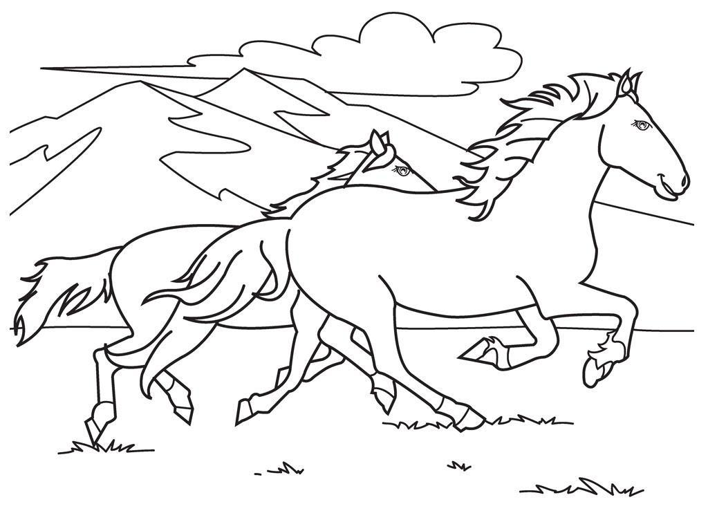 Coloriage de chevaux trop mignon