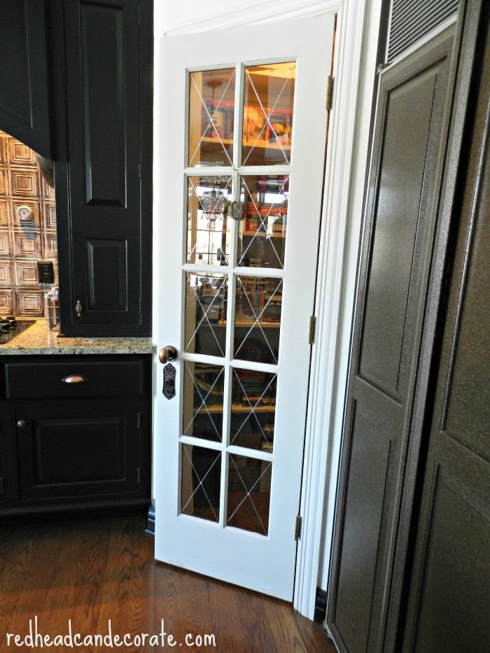 Pantry Door with Antique Hardware