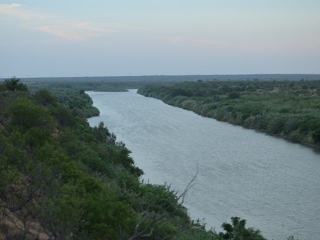Wide Open Mexican Border South of Laredo Texas