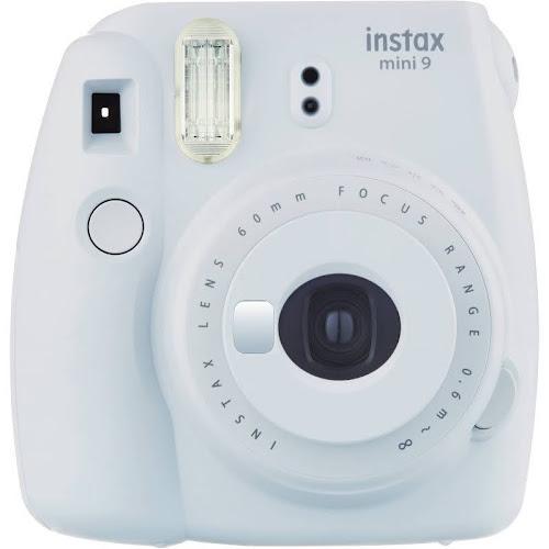 Fujifilm Instax Mini 9 Instant Camera with 60mm Lens - Smokey White