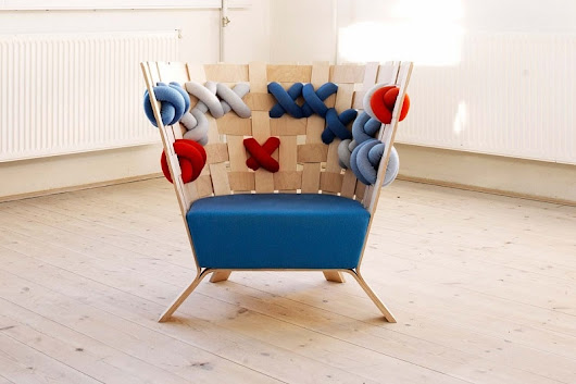 Fun armchairs that look like cheerful knitted sweaters