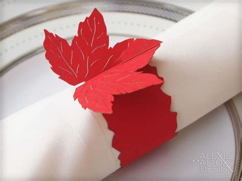 Fall Leaf Napkin Rings from Alexis Mattox Design