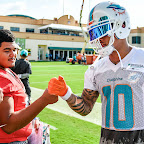 78556748c1 Miami Dolphins Host LaBelle High School At Training Camp Practice
