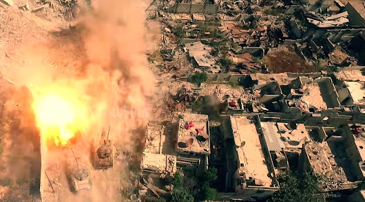 This nightmarish drone footage claims to show scenes from Syria's civil war