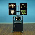 VTI Manufacturing 50400 Multi - Monitor Cabinet Cart