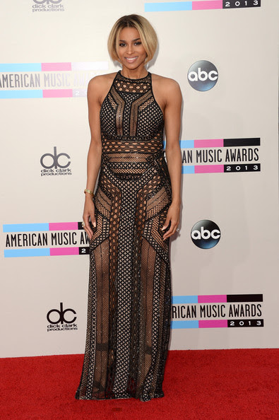 Singer Ciara attends the 2013 American Music Awards at Nokia Theatre L.A. Live on November 24, 2013 in Los Angeles, California.