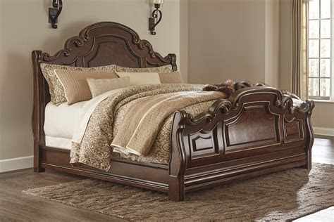 king sleigh bed  ashley furniture moore furniture