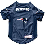 The New England Patriots | Pet Stretch Jersey | Size L | Red | Little Earth