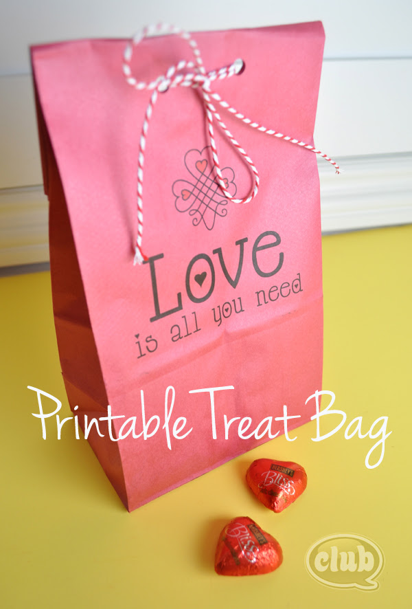 Printable treat paper bag