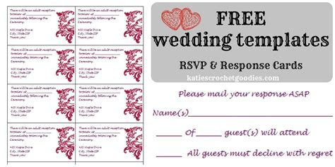 Free Wedding RSVP & Response Card Template Templat