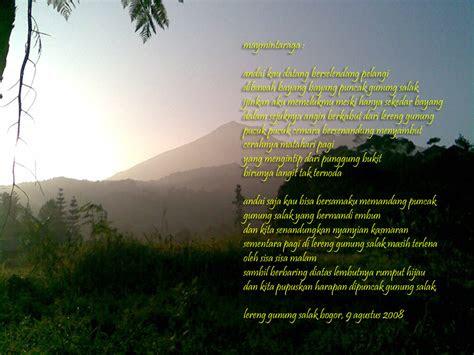 puisi tentang alam  peduli terhadap alam informasi