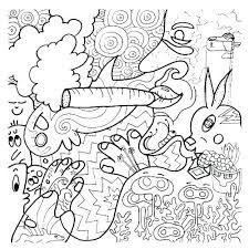 alice in wonderland stoner trippy coloring pages  dejanato