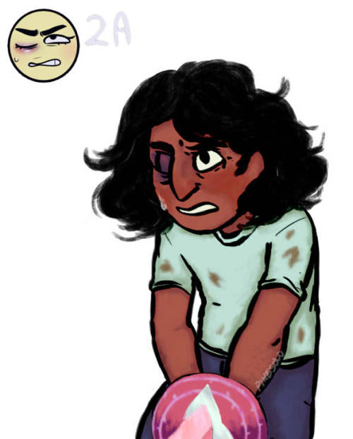 Anonymous said: On that ask meme, would you please do Connie for 2A? Answer: i got carried away and painted it i really enjoyed the process, thank you! pd: please clarify if you want a simple,...