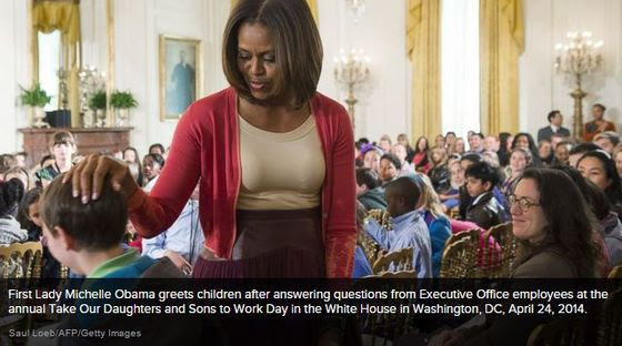 First Lady, Michelle Obama - Works Kids Day