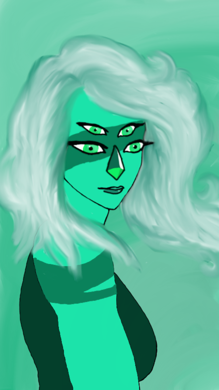 Malachite without the haze.