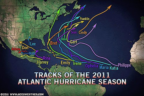 30 Hurricane Season 2011 tracks