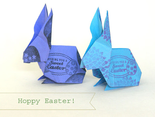 Origami Easter Bunny | Angie's Art Studio