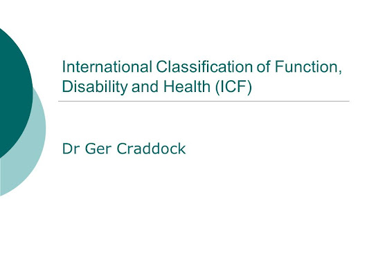 International Classification of Function, Disability and Health (ICF) Dr Ger Craddock