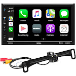 Sound Storm Laboratories DD7CPAC 7 in. Double Din Touchscreen Am Fm Bluetooth & Carplay Receiver with Backup Camera