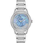 Bulova 96L260 Women's Crystal Turn Style Blue Quartz Watch