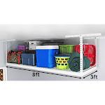 SafeRacks 3 x 8 ft. Overhead Garage Storage Rack, White