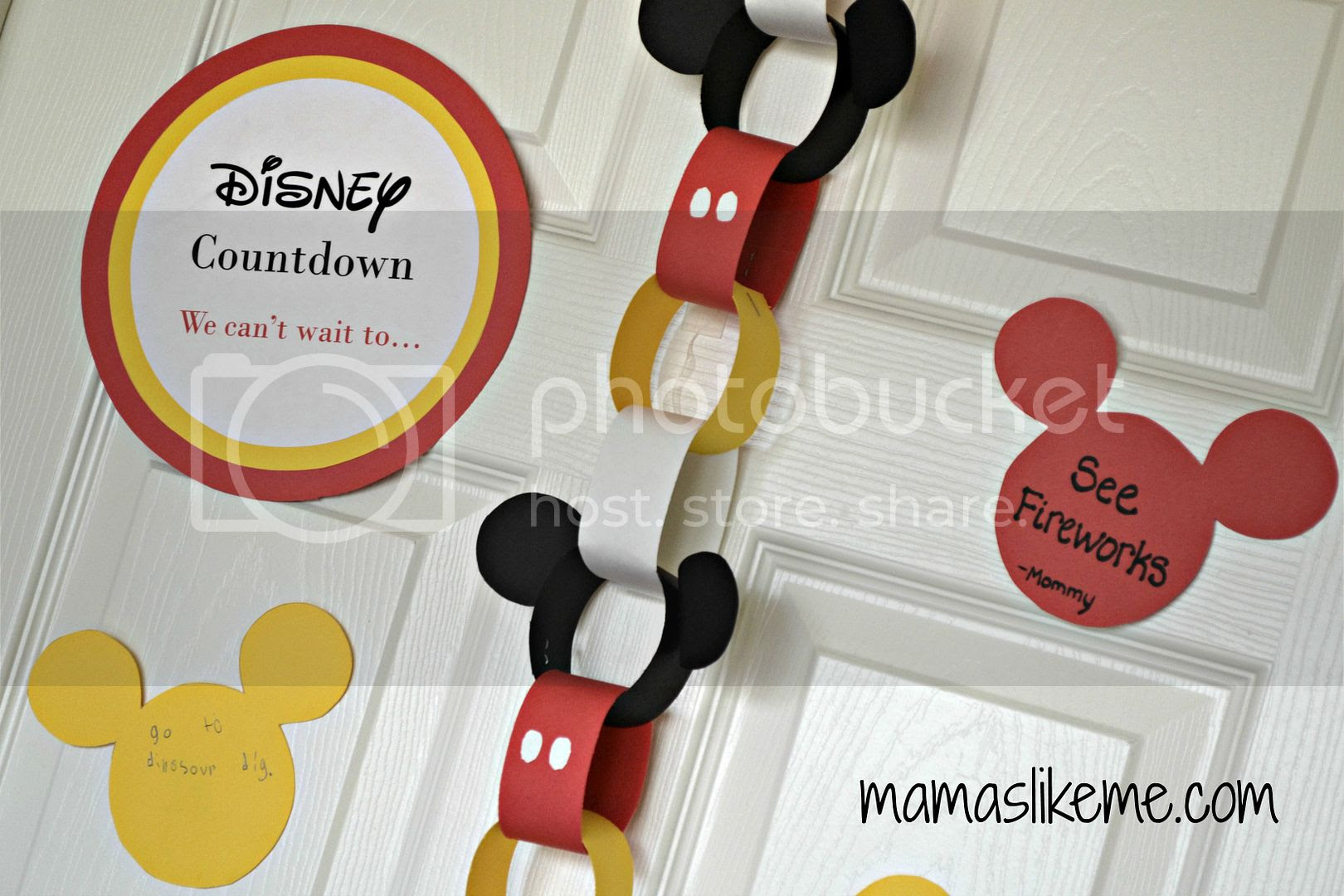 Mickey Mouse Inspired Disney Countdown Paper Chain
