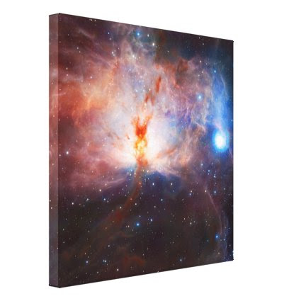 Fires of the Flame Nebula - NGC 2024 in Orion Gallery Wrapped Canvas