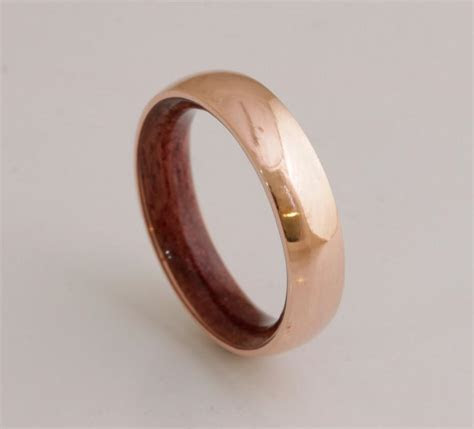 Copper Wedding Band // Copper Wood Ring // Man Ring