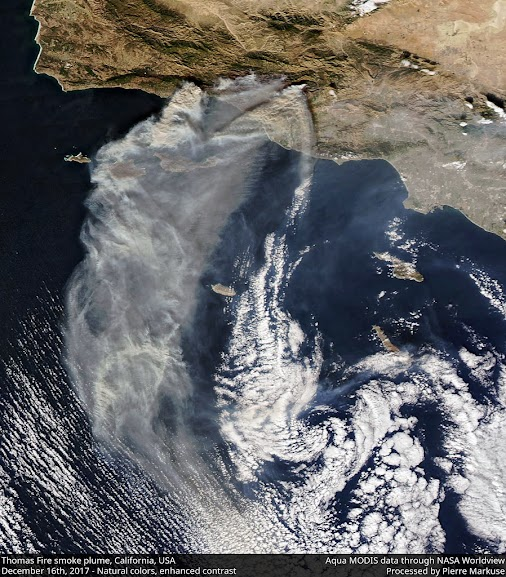 Quickie: Impressive image of the Thomas Fire Smoke Plume, California - December 16th view  In this image...