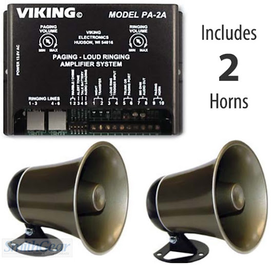 Viking PA-2A Loud Ringer Paging w/2 Paging Horns BUNDLE