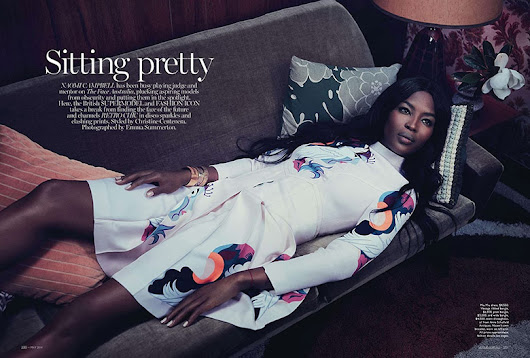 Naomi Campbell by Emma Summerton for Vogue Australia May 2014 | The Fashionography