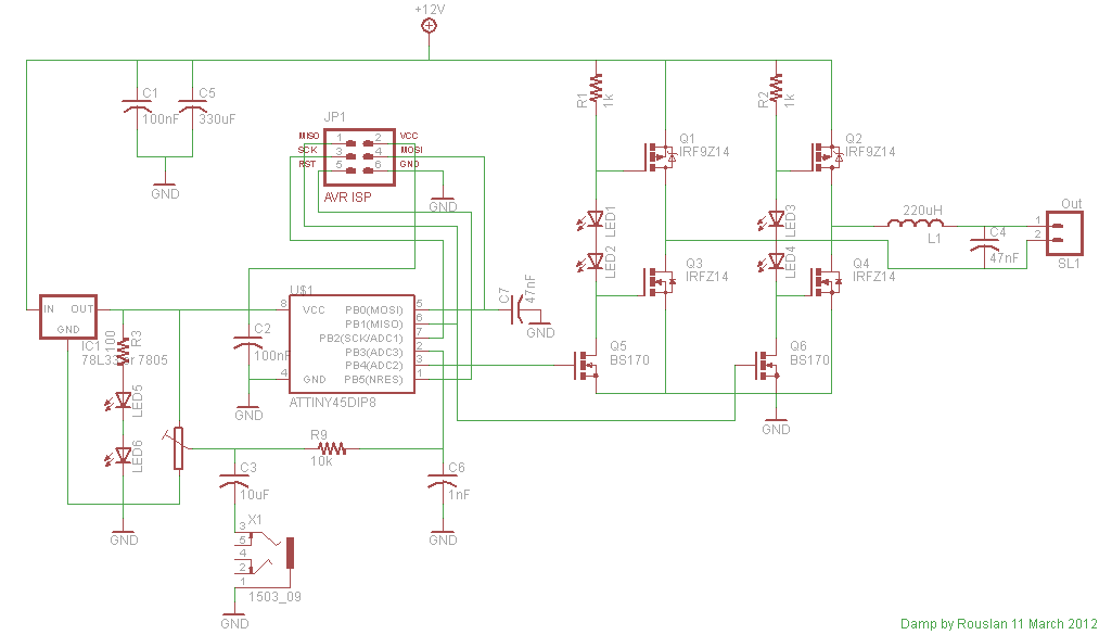 high power amplifier eaglr schematic