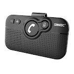 SUNITEC Hands Free Bluetooth for Cell Phone Car Kit - Wireless Bluetooth 5.0 Car Speaker AUTO Power ON Support Siri Google Assistant Voice Guidance