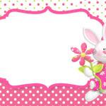 Moldura Convite e Cartão Páscoa para Meninas: