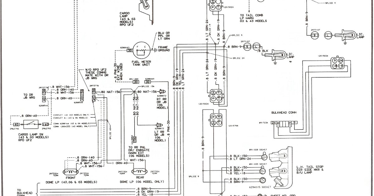 1995 Chevy Truck Tail Light Wiring Diagram